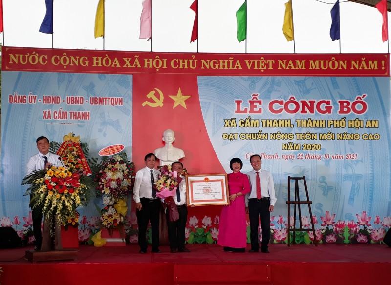 Cẩm Thanh tổ chức Lễ công bố đạt chuẩn Xã Nông thôn mới nâng cao năm 2020