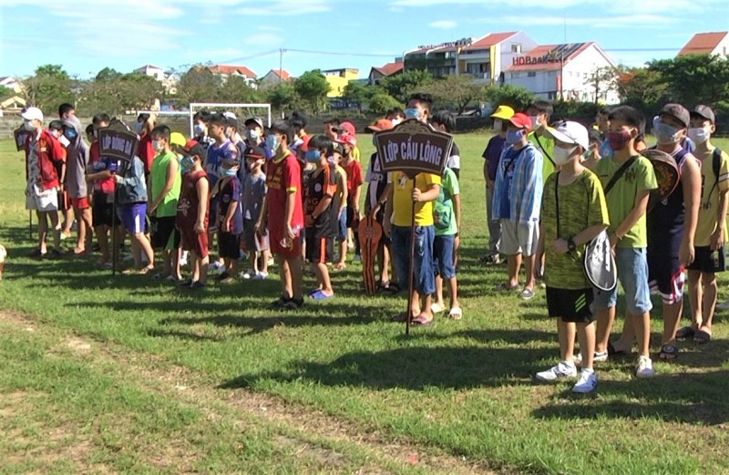 Khai giảng các lớp năng khiếu thể thao cho trẻ em